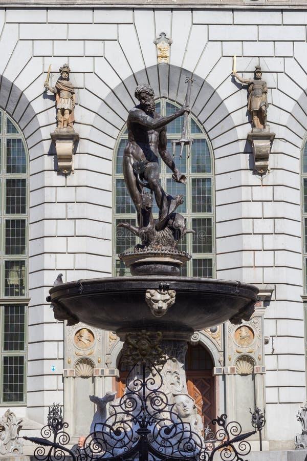 Fontaine de Neptune à Danzig images libres de droits