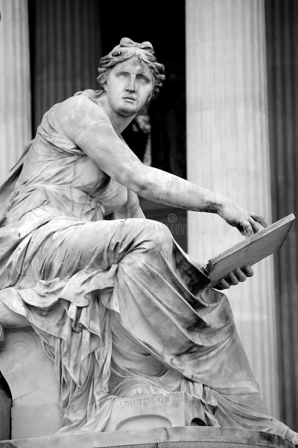 Fontaine de Pallas-Athéna-Brunnen, le Parlement autrichien à Vienne, A photos libres de droits