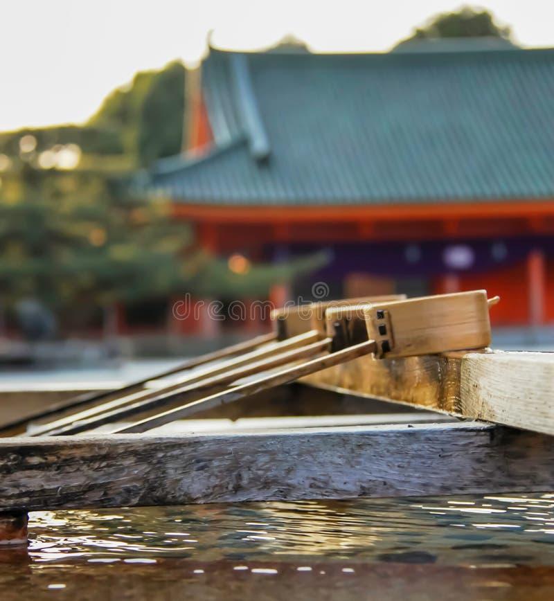 Fontaine de purification de tombeau de Heian images libres de droits