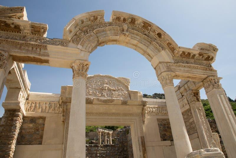 Fontaine de Trajan dans Ephesus images libres de droits