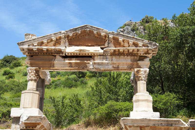 Fontaine de Trajan dans Ephesus, Turquie image stock