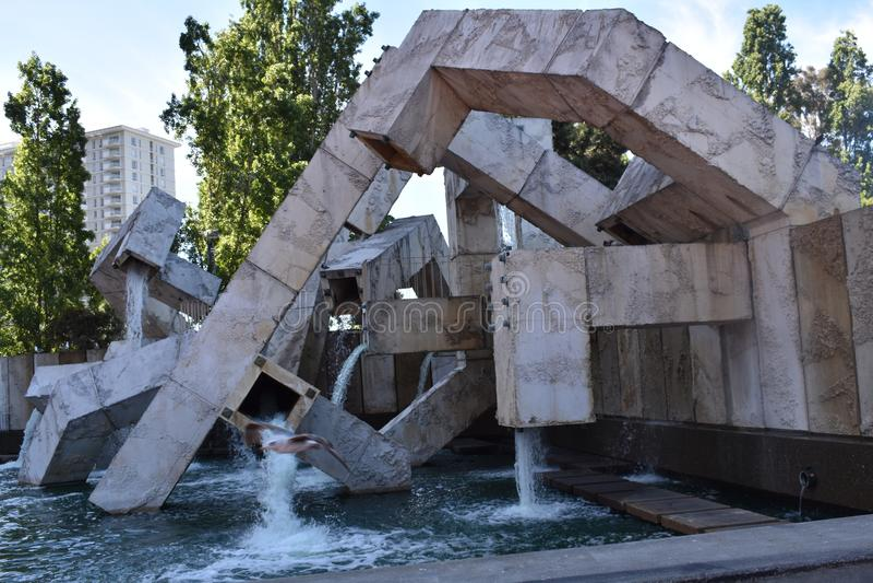 Fontaine de Vaillancourt de plaza de Justin Herman /Embarcadero images stock