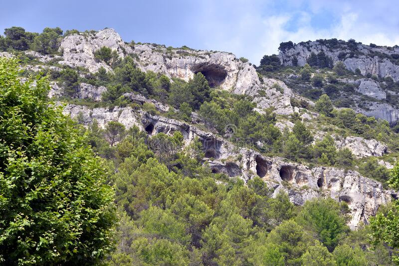 Fontaine de Vaucluse in France royalty free stock images
