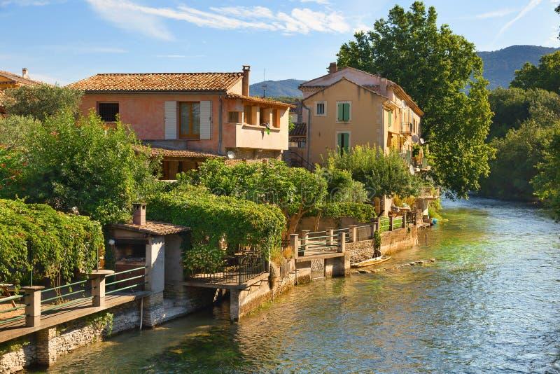Fontaine de Vaucluse, Provence, France images libres de droits
