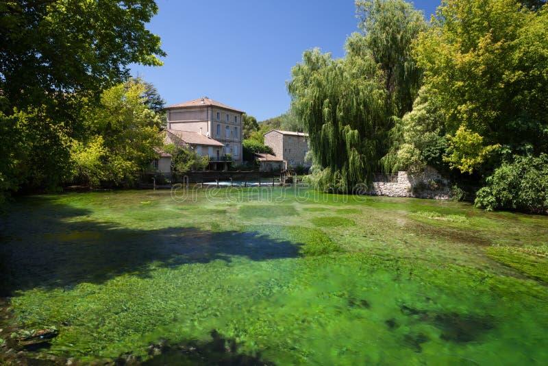 Fontaine-de-Vaucluse, Provence, Francia fotografía de archivo libre de regalías