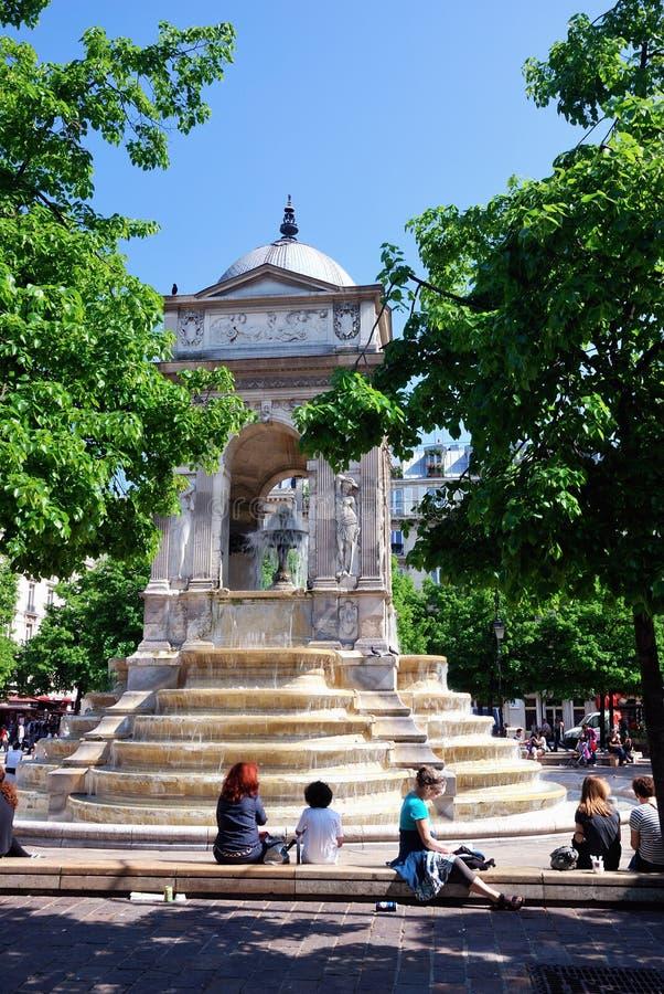 Fontaine des清白的人,巴黎 免版税库存照片