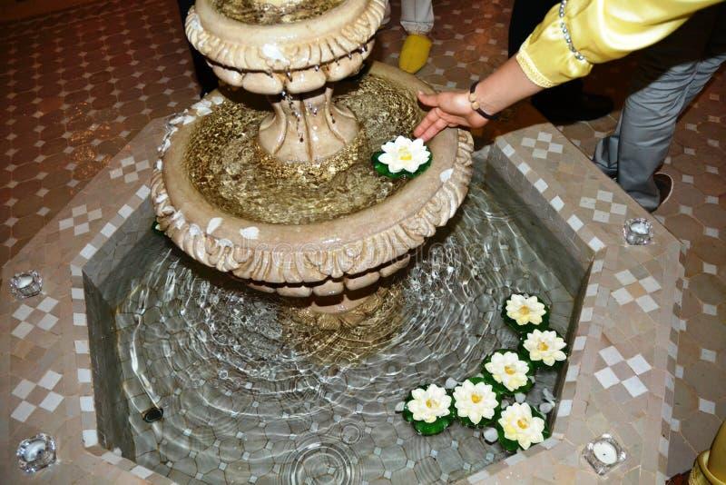 Fontaine des roses photo libre de droits