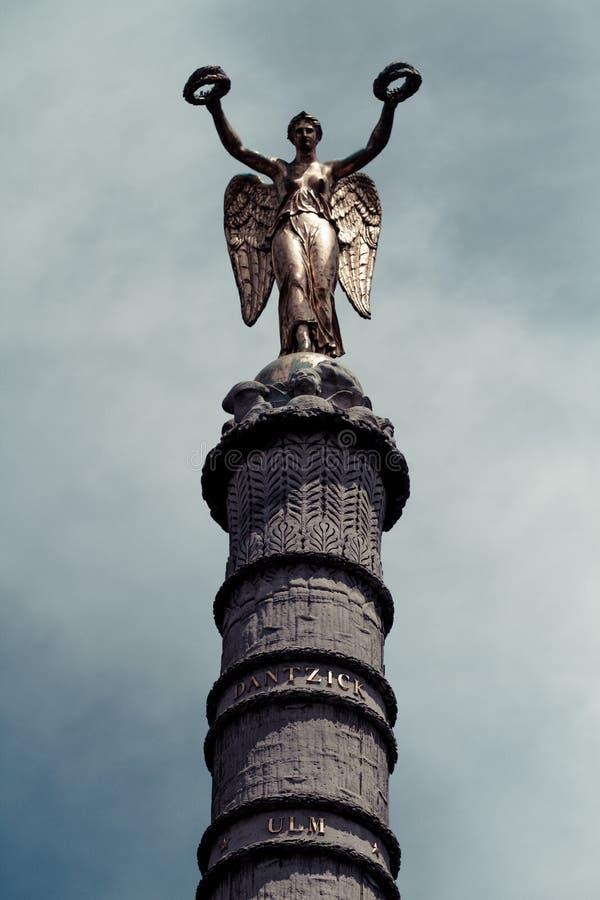 Fontaine du Palmier, Fontaine de la Victoire, Place du Châtelet, Paris, France images libres de droits