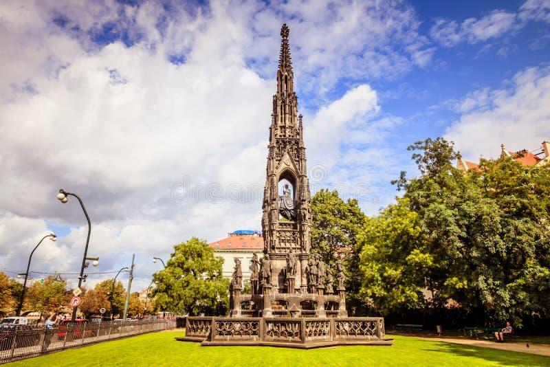 Fontaine du ` s de Kranner à Prague, République Tchèque image stock