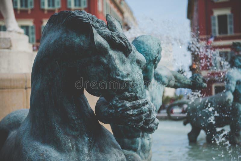 Fontaine du Soleil Fountain del piacevole sole-, Francia fotografie stock
