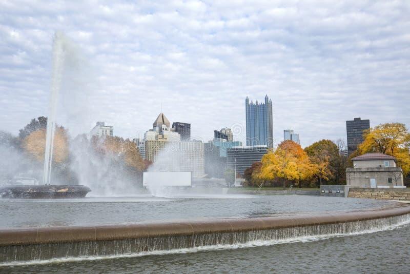 Fontaine en parc d'état de point à Pittsburgh, Pennsylvanie photo libre de droits
