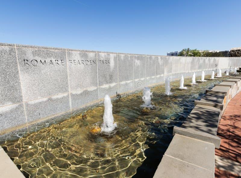 Fontaine en parc de Romare Reardon photos libres de droits