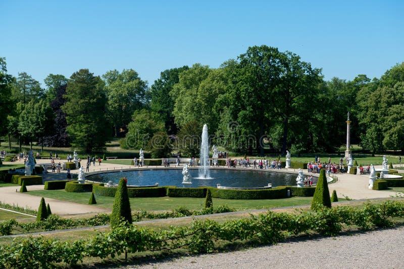 Fontaine en parc de Sanssouci images stock