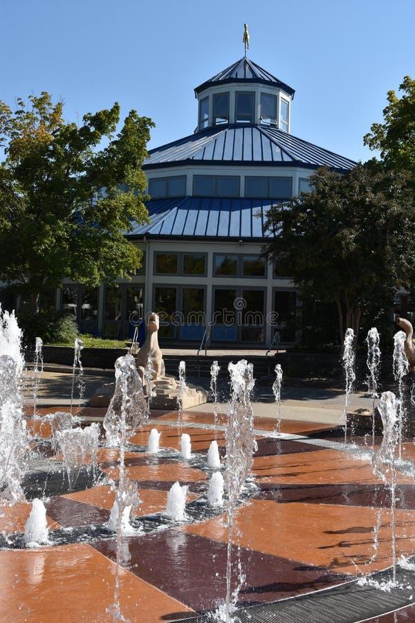 Fontaine interactive au parc de Coolidge à Chattanooga, Tennessee photos stock