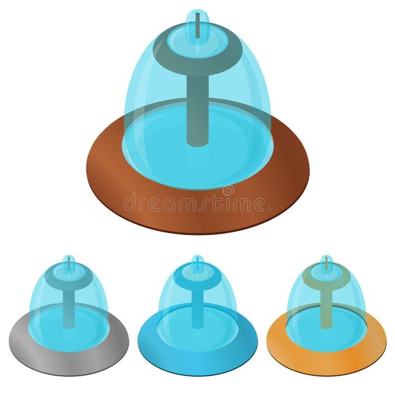 Fontaine Isométrique plat Le jet de l'eau illustration de vecteur