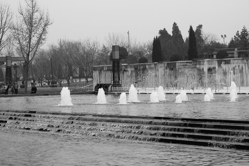 Fontaine musicale photographie stock