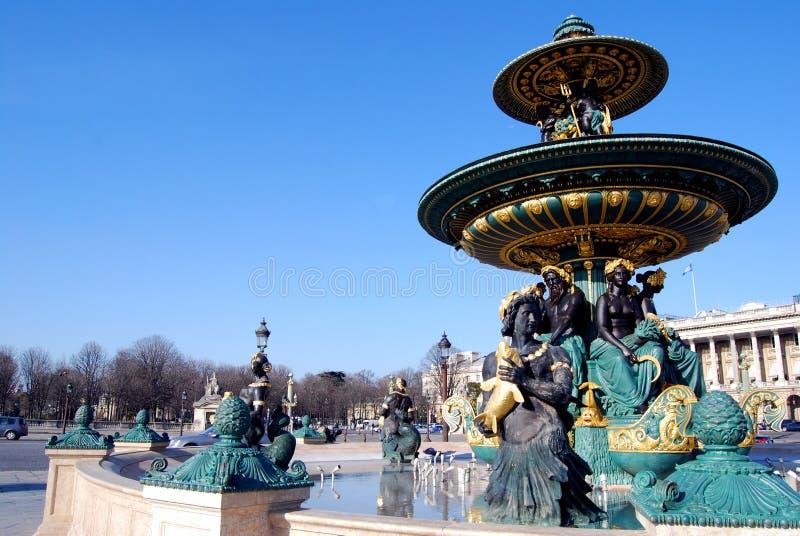 Fontaine, Place de la Concorde. images stock