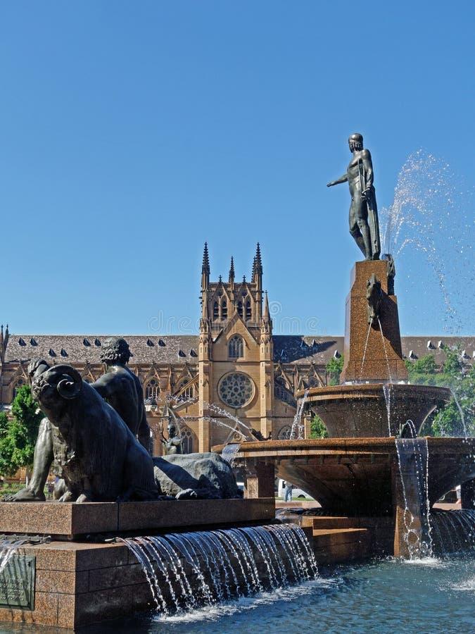 fontaine Sydney de l'australie d'archibald images stock