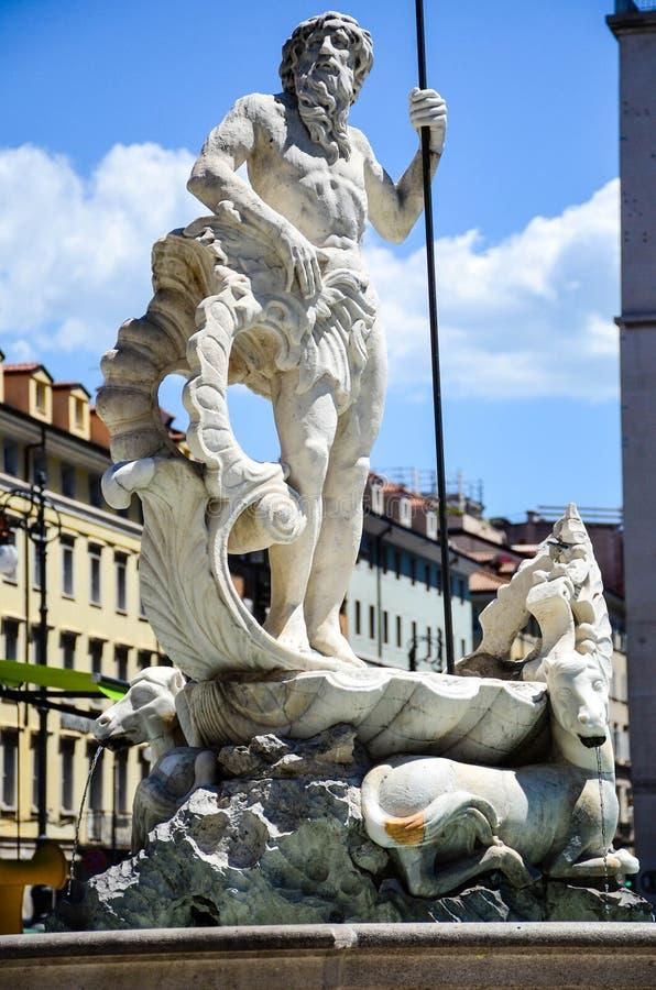 Fontaine Triest, Italie du ` s de Neptun photos stock