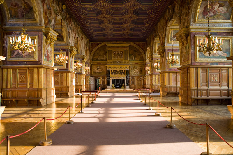Fontainebleau 3 zamek wnętrze obrazy royalty free