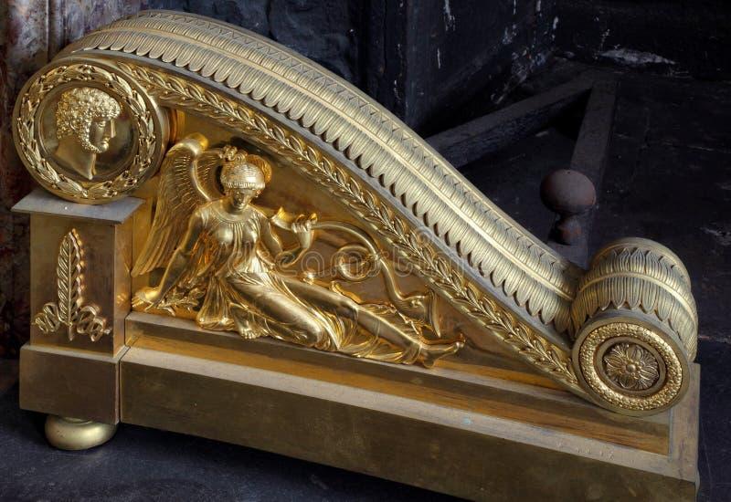 Fontainebleau, France - 15 août 2015 : Détails, statue et meubles photo stock