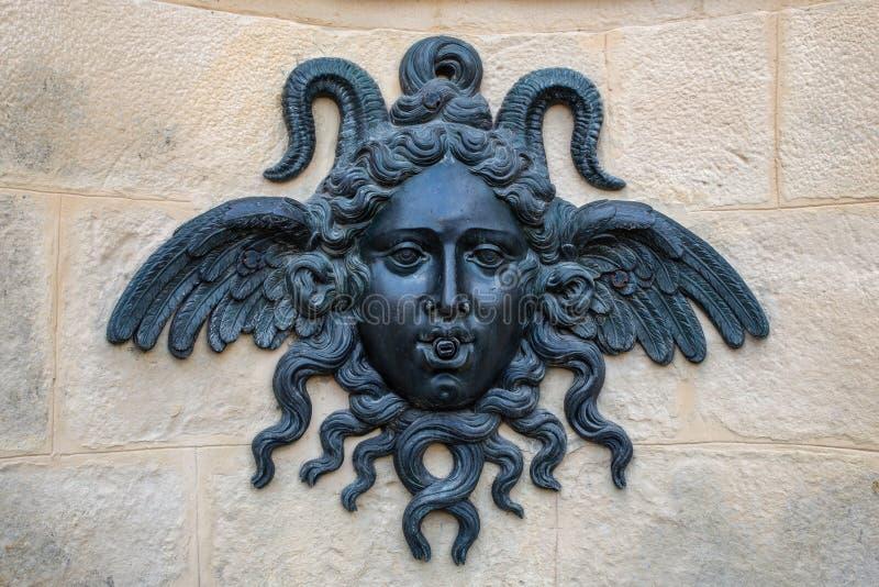 Fontainebleau, France - 15 août 2015 : Détails, statue et meubles photos stock