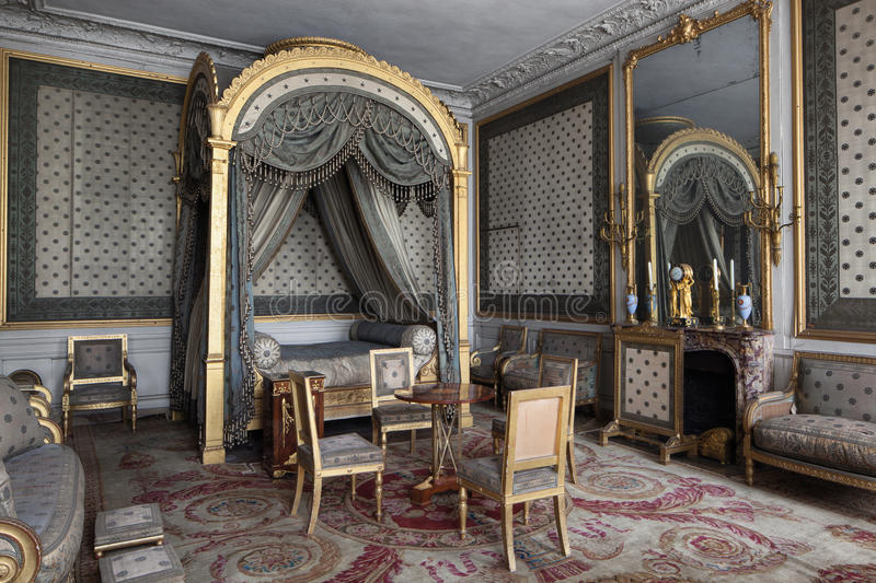 Fontainebleau, France - 16 August 2015 : Interior view. Of the Fontainebleau Palace ( Chateau de Fontainebleau ). It was added to the UNESCO list of World stock images