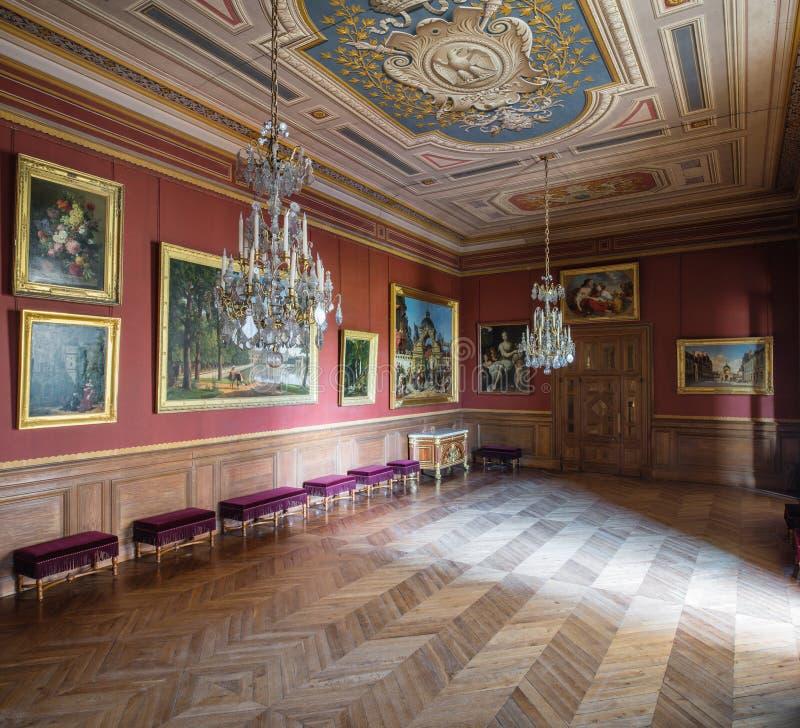 Fontainebleau, Francia - 16 de agosto de 2015: Visión interior imágenes de archivo libres de regalías