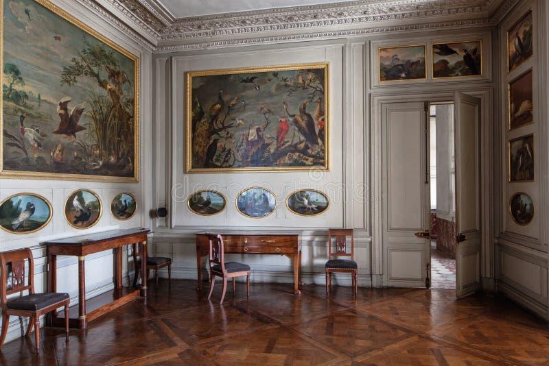 Fontainebleau, Francja - 16 2015 Sierpień: Wewnętrzny widok zdjęcie stock