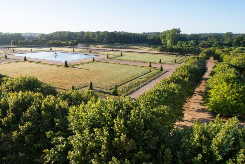 Fontainebleau, Frankreich - 16. August 2015: Außenansicht stockbild