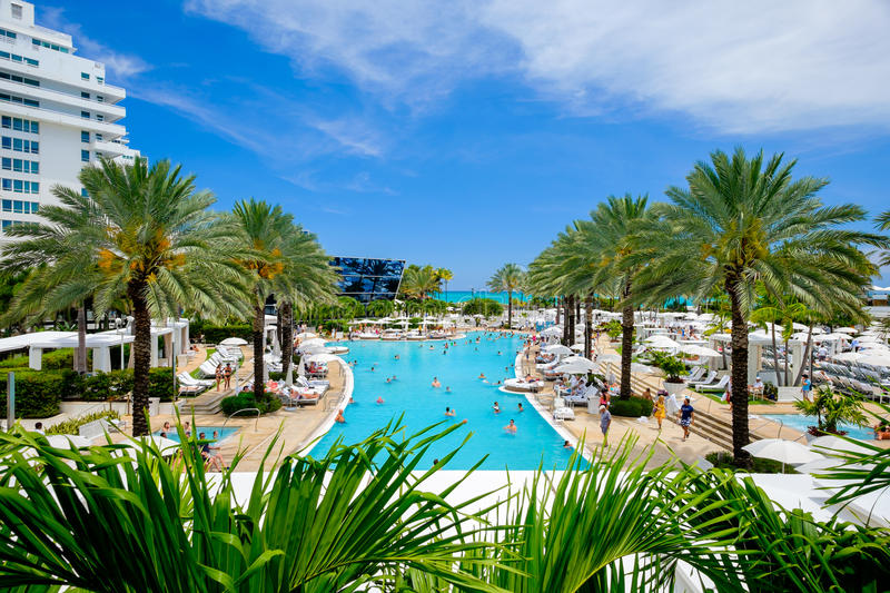 Fontainebleau hotel obrazy stock