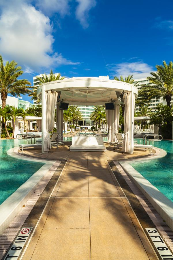 Fontainebleau hotell Miami Beach arkivbild