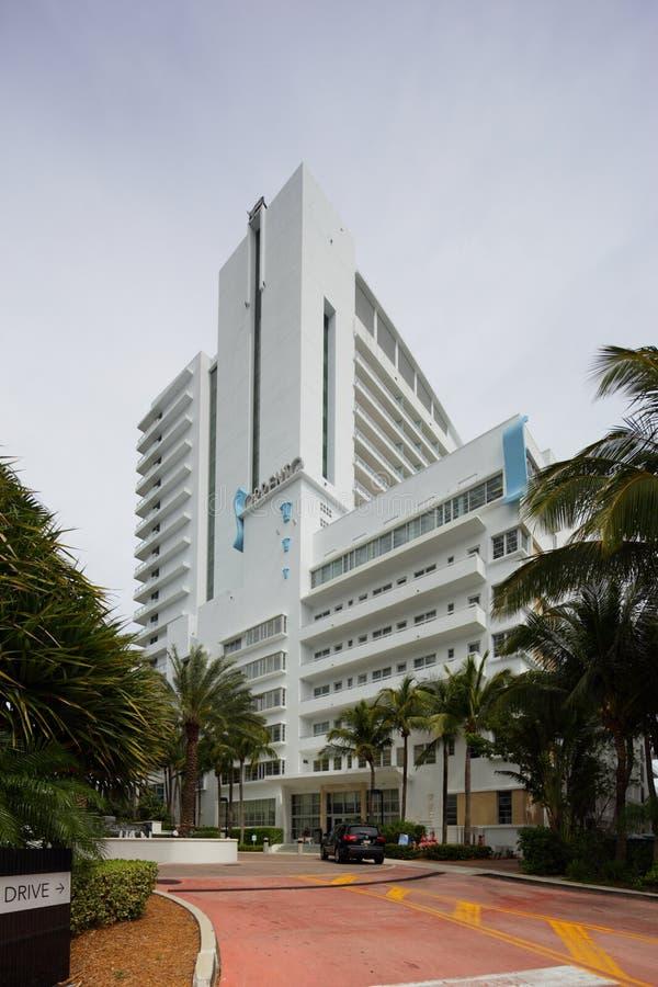 Fontainebleau Hotelowy Sorrento buduje Miami plażę zdjęcie royalty free