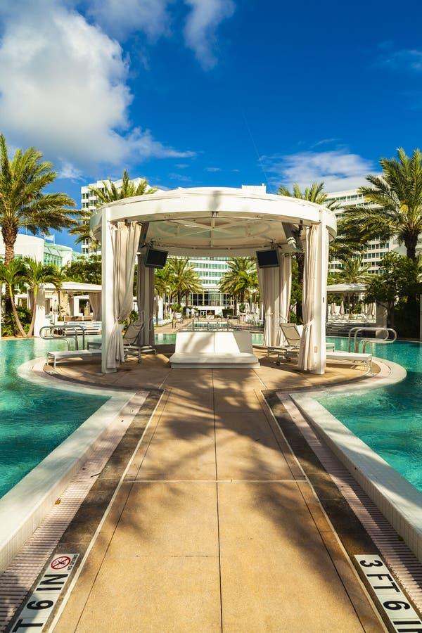 Fontainebleau Miami Hotelowa pla?a fotografia stock