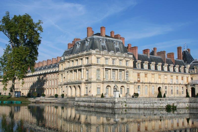 fontainebleau pałac staw fotografia stock
