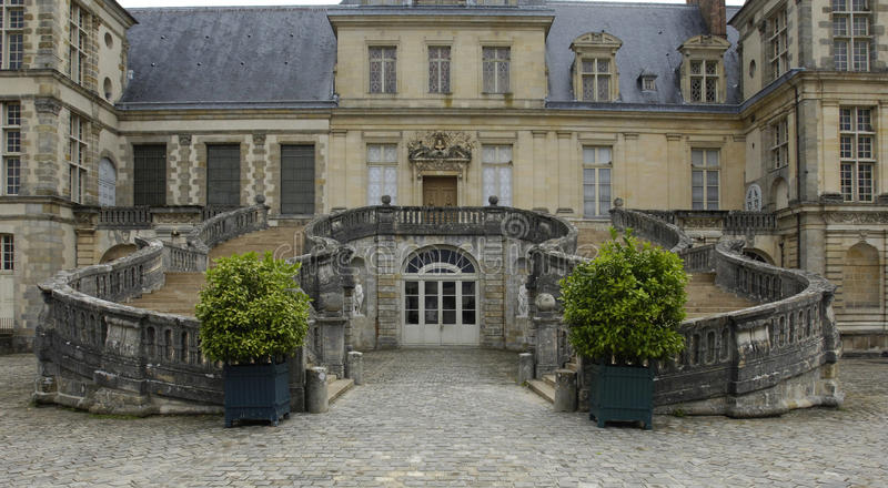 Fontainebleau palace stock images
