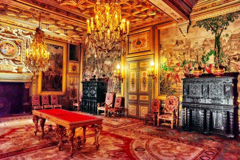 Fontainebleau-Palast lizenzfreie stockbilder