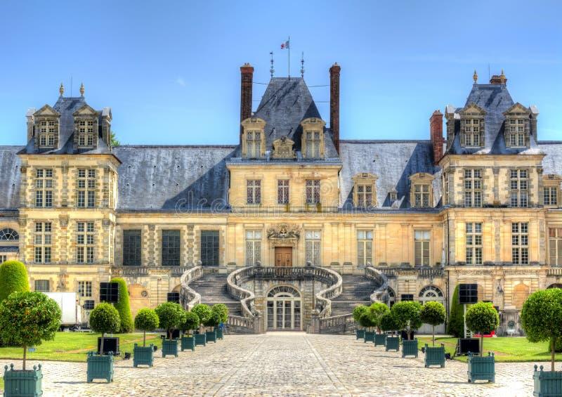 Fontainebleau slott Chateau de Fontainebleau nära Paris, Frankrike royaltyfri bild