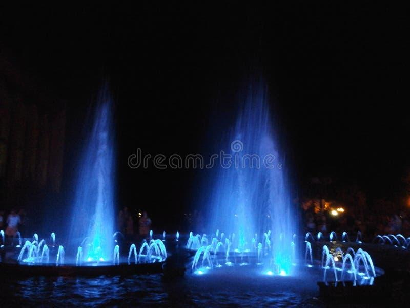 Fontaines chanteuses et de danses image stock