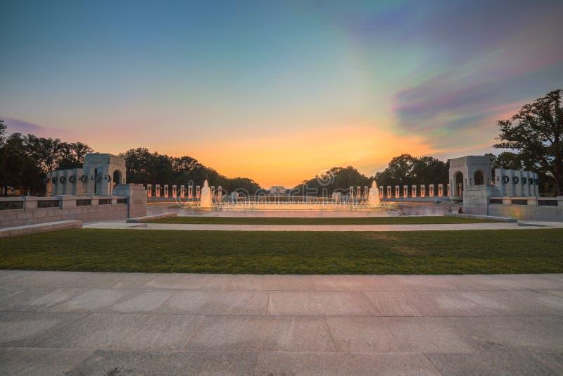 Fontaines commémoratives de la deuxième guerre mondiale de point de repère images stock