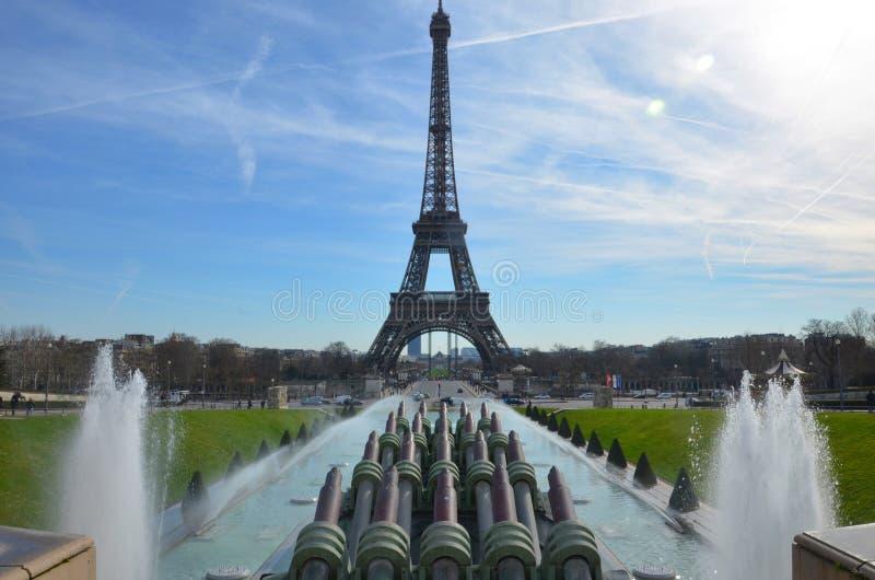 Fontaines d'eau de Paris photographie stock
