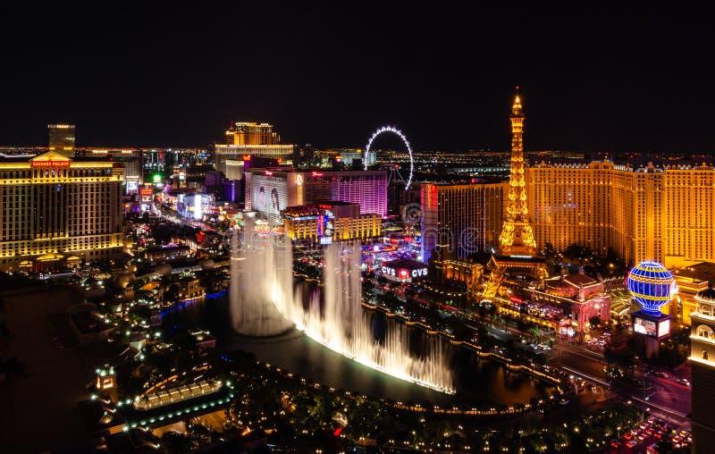 Fontaines de Bellagio à Las Vegas image libre de droits