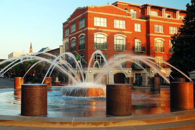 Fontaines de Charleston image libre de droits