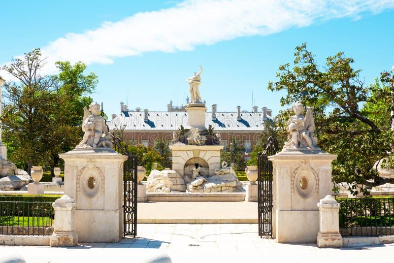 Fontaines de Palacio vrai, Aranjuez photos libres de droits