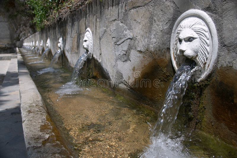 Fontaines de Spili images libres de droits