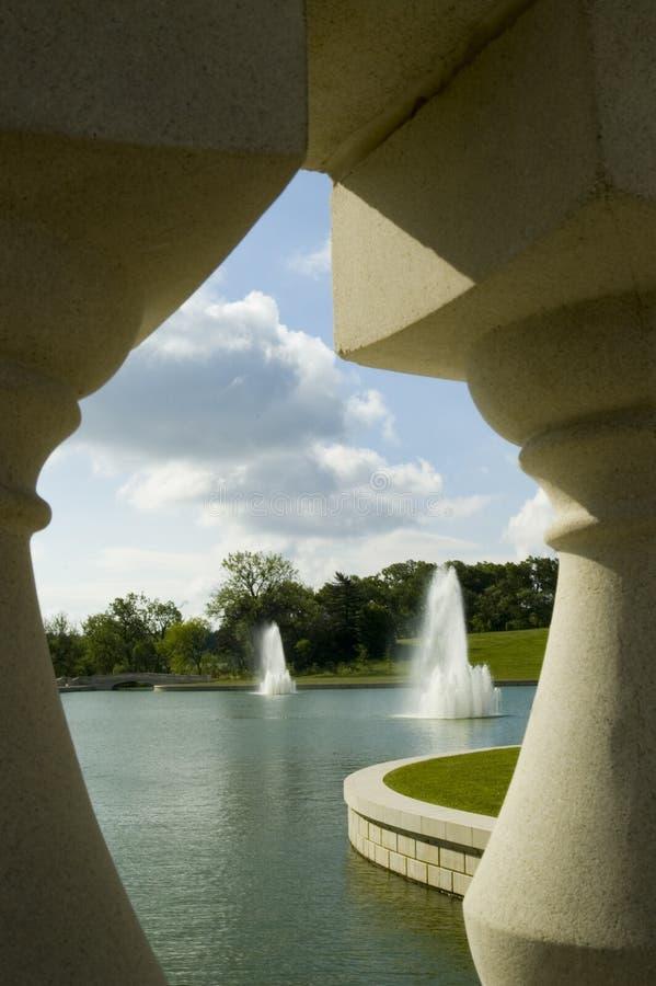 Fontaines encadrées photographie stock libre de droits