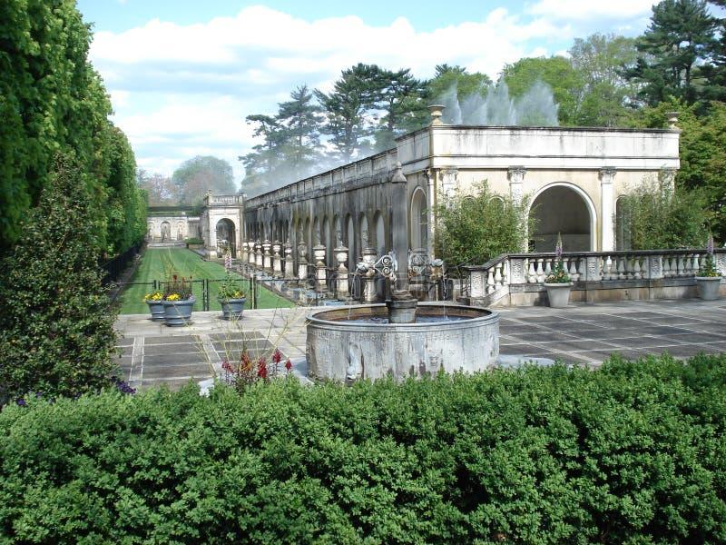 Fontaines principales aux jardins de Longwood photo stock