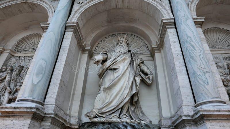Fontana Acqua Felice en Roma imagen de archivo