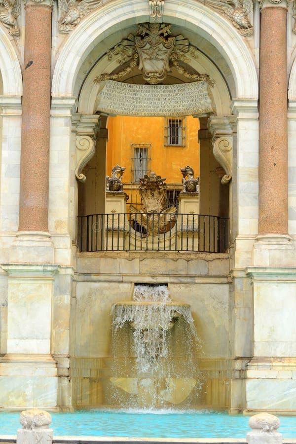 Fontana Acqua Paola szczegół Rzym zdjęcie royalty free
