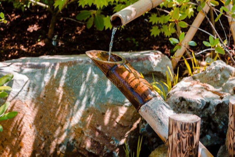 Fontana ai giardini giapponesi a Grand Rapids Michigan fotografia stock libera da diritti